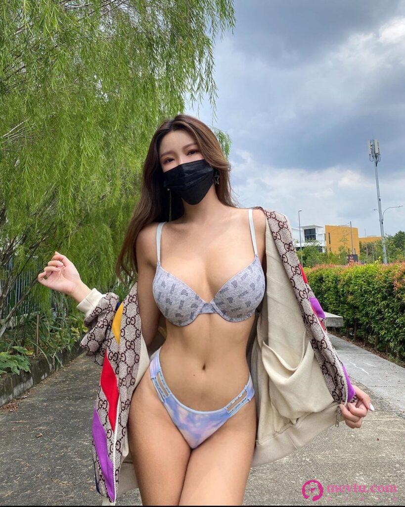 (二)正妹颜妃Gatita Yan双峰形状完整露出 「粉红点点」游走边缘 性感美女-第2张