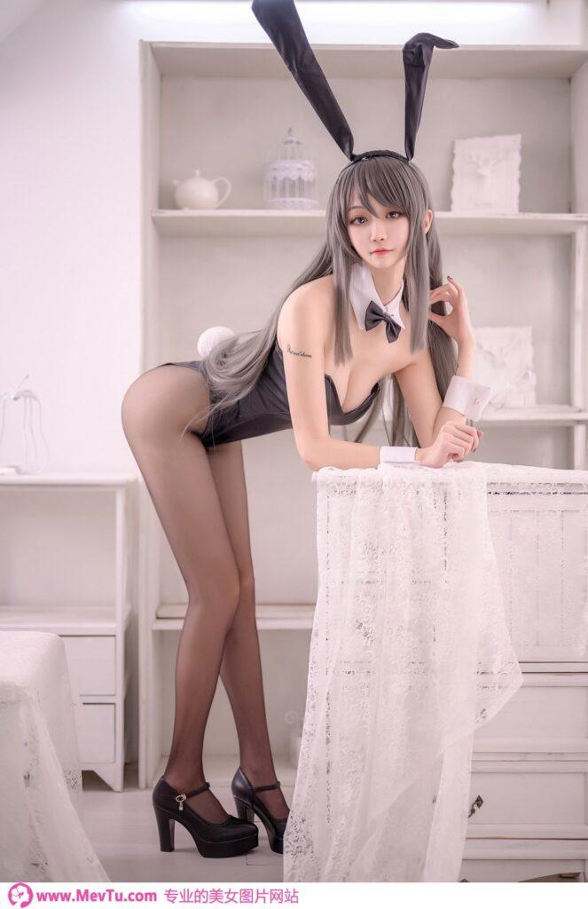 Cosplay 沧霁桔梗 - 麻衣学姐 性感美女-第1张